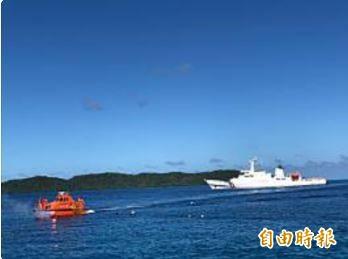 台灣帛琉首度海巡操演 兩國元首親見證。(記者蘇永耀攝)