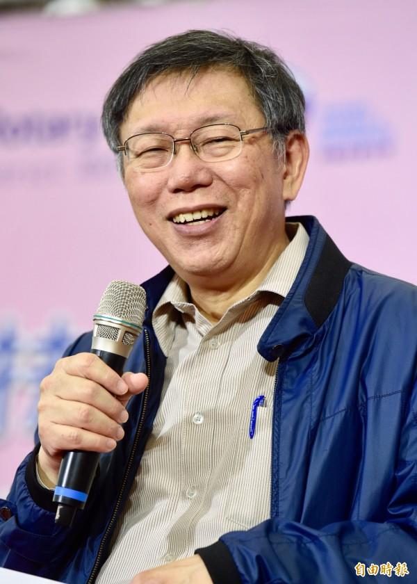 台北市長柯文哲表示,「其實我們這些選連任的,根本不需要什麼選舉活動」,每天把市政做好就是最好的競選活動。(記者羅沛德攝)