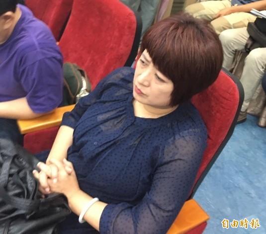 內政部舉辦「土地徵收與居住權公聽會」,民進黨立委蔡培慧到場參與。(記者蕭婷方攝