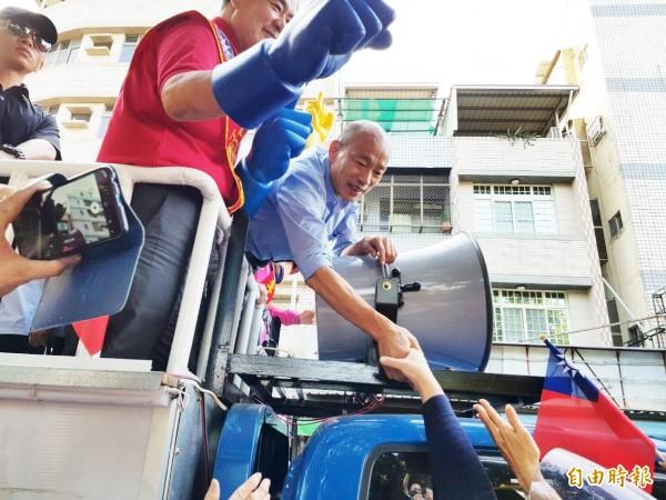 《紐約時報》認為,國民黨高雄市長候選人韓國瑜的人氣突然出乎意料地激增。(資料照)
