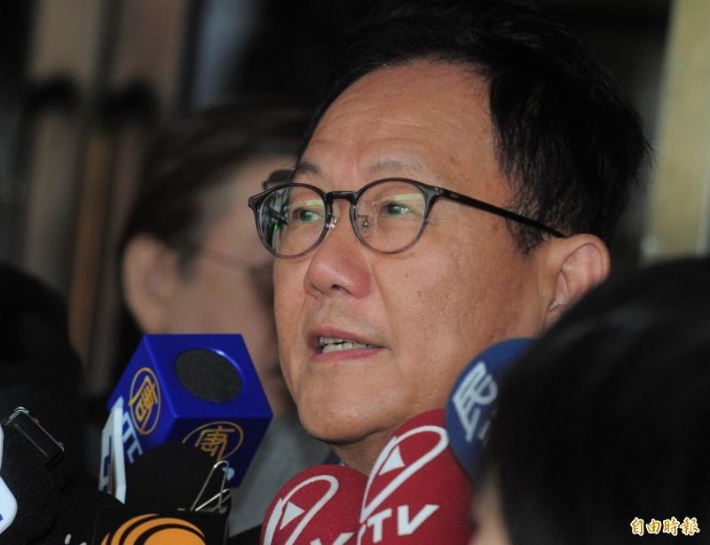 國民黨台北市長落選人丁守中提選舉無效訴訟敗訴,丁守中表示確定上訴,下週將會開記者會對外說明。(資料照)