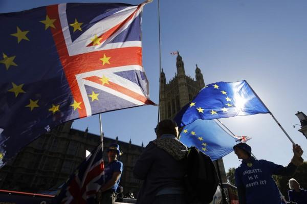 英國一份最新民調指出,若脫歐公投重新舉辦一次,留歐派將以54%獲勝。(法新社)