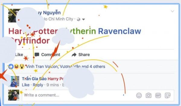 只要在臉書輸入關鍵字,可以用魔杖變魔法。(圖擷自臉書)