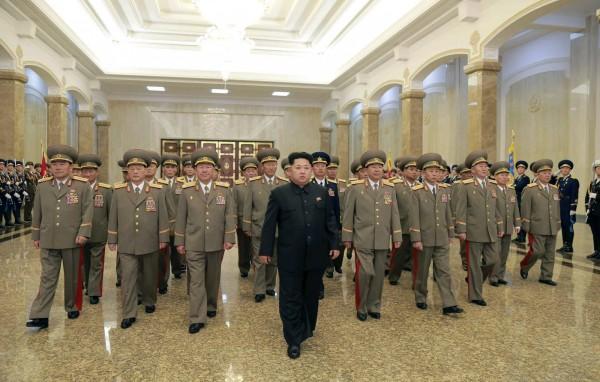 北韓國家領導人下令當地時間今天17點起,進入「準戰時狀態」。圖為資料照。(歐新社)