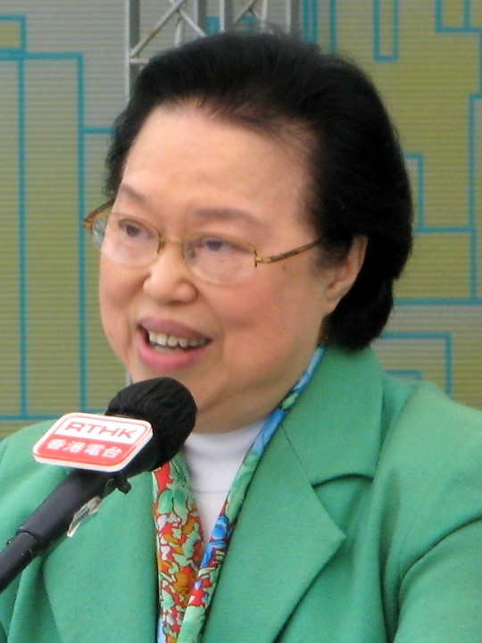 香港基本法委員會副主委譚惠珠(見圖)竟瞎扯美國、加拿大與德國都與中國簽署「國際司法協議」,聲稱中國「司法透明」,反斥香港人「坐井觀天」。(圖擷取自維基百科)
