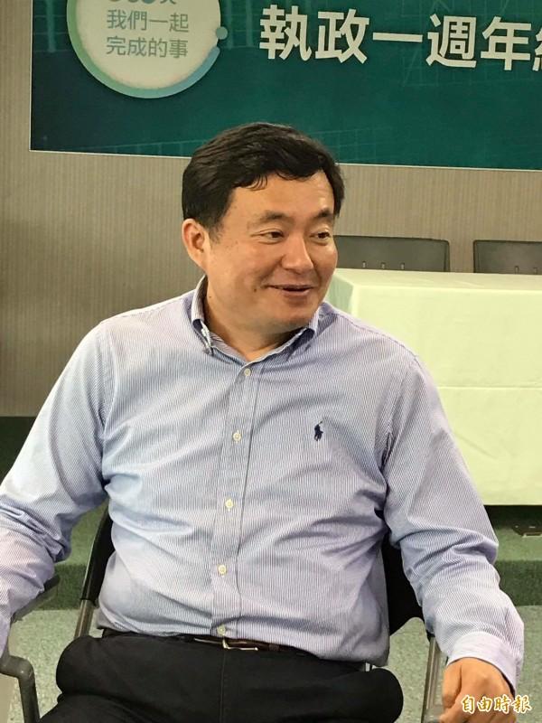 民進黨秘書長洪耀福今天坦言,丁守中、姚文智都滿弱化。明天會邀姚文智總部幹部開會討論調整強化。(資料照,記者蘇芳禾攝)