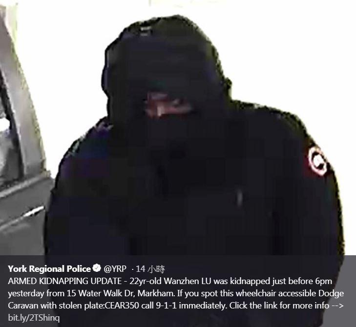 約克區警方公布犯人照片,望民眾給予線索。(圖擷自York Regional Police Twitter)