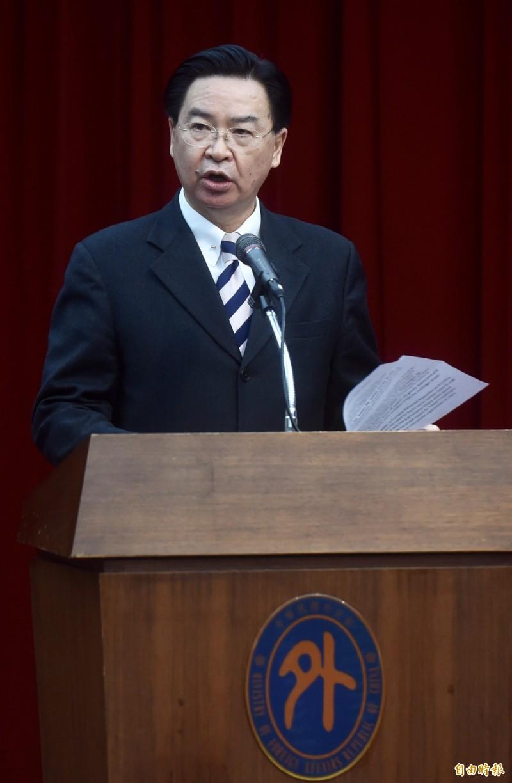 外交部長明將赴立院報告及備詢台灣外交現況。(資料照,記者簡榮豐攝)