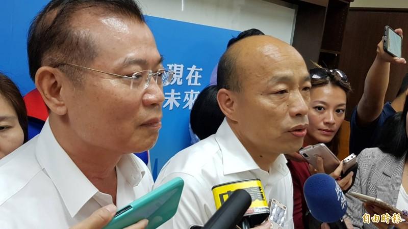 高雄治安亮紅燈,高市長韓國瑜點名分局長,再發生類似事件就撤換。(資料照)