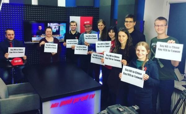 波蘭電視節目公開挺台,受到波蘭政府保護言論自由。(圖擷取自IPPTV推特)