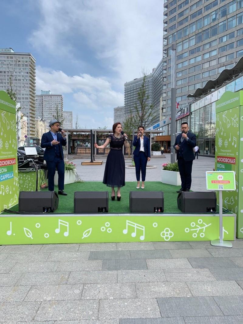 由台灣原住民組成的「歐開合唱團」日前首次赴俄羅斯參加莫斯科的歌唱節,獲得2至4人組第3名的佳績。(中央社)