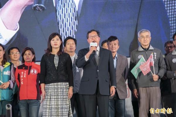 桃園市長鄭文燦以55萬2330票、得票率53.46%連任成功。(資料照)