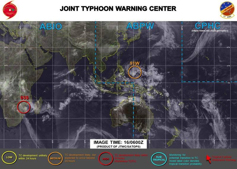 氣象專家賈新興指出,目前位於菲律賓東方、編號91W的熱帶性低氣壓,預估48至60小時內,有機會發展為今年第一號颱風「杜鵑」(Dujuan),23日進入南海後,水氣將對台灣的天氣造成影響。(圖擷取自賈新興臉書)