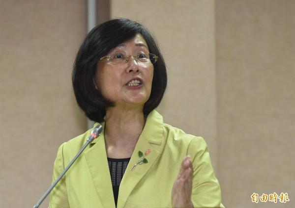 法務部長羅瑩雪昨天在立院備詢時,脫序言論頻頻惹怒立委。(資料照,記者劉信德攝)