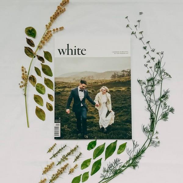 澳洲婚禮雜誌《白色》(White Magazine)具有反同婚立場,廣告商得知後撤光贊助,讓《白色》不得不停止發行。(圖擷自White Magazine臉書)