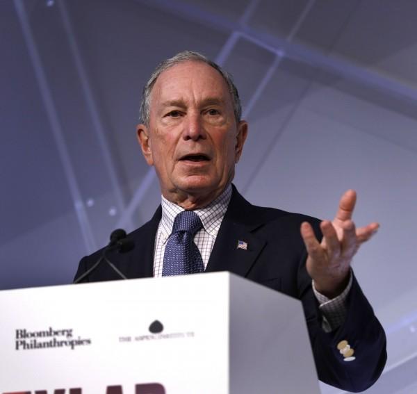 美國億萬富翁前紐約市長彭博(Michael Bloomberg),向母校約翰霍普金斯大學捐贈18億美元(約新台幣554億元)。(法新社)