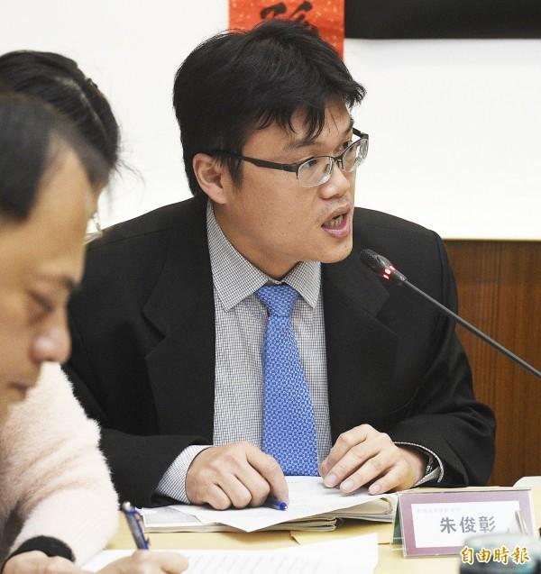 教育部高等教育司副司長朱俊彰。(記者陳志曲攝)