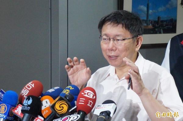 台北市長柯文哲表示,北市警察局長邱豐光向他承認,沒依照SOP執勤。(資料照,記者涂鉅旻攝)