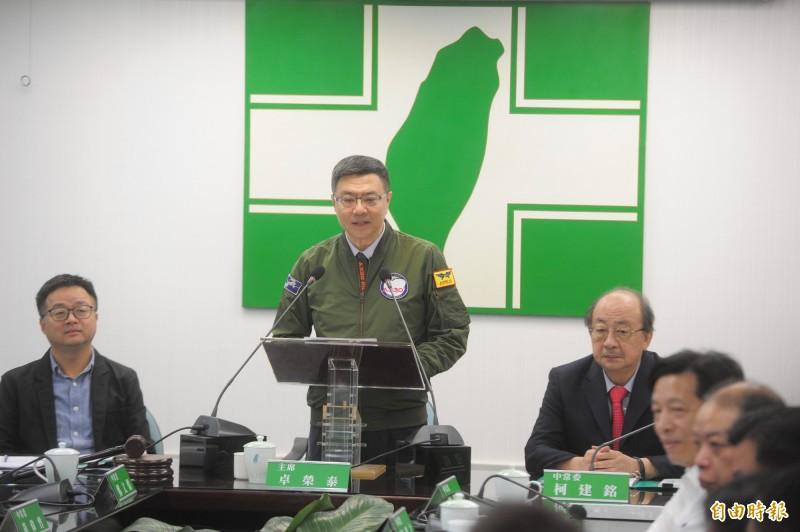 民進黨總統初選「蔡賴對決」,黨主席卓榮泰日前向黨公職人員表示,針對總統初選不要過度表態。(資料照)