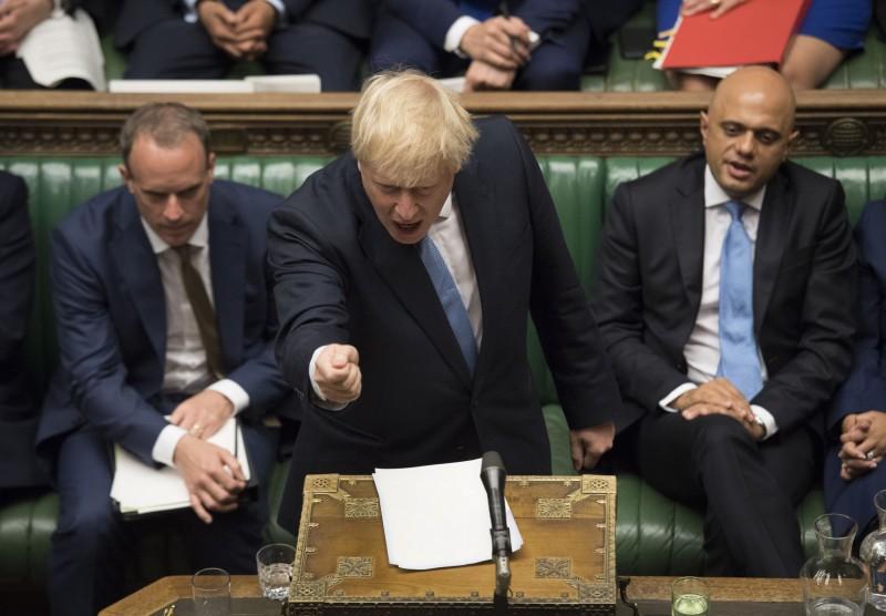 新任英國首相強森表示,現有脫歐協議明顯無法被接受,已經將無協議脫歐列為首要事項。(美聯社)