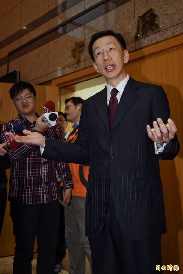 周志偉今在國民黨中常會指出,為經營國民黨形象,現正正積極修改「維基百科」資訊。(資料照,記者劉信德攝)