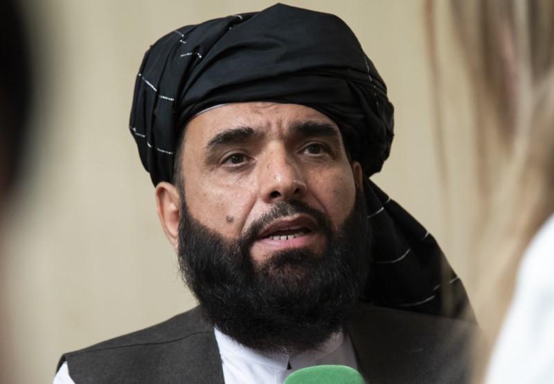 塔利班發言人穆賈希德(Zabihullah Mujahid)表示,他對於校園的爆炸事件並不知情。(美聯社)