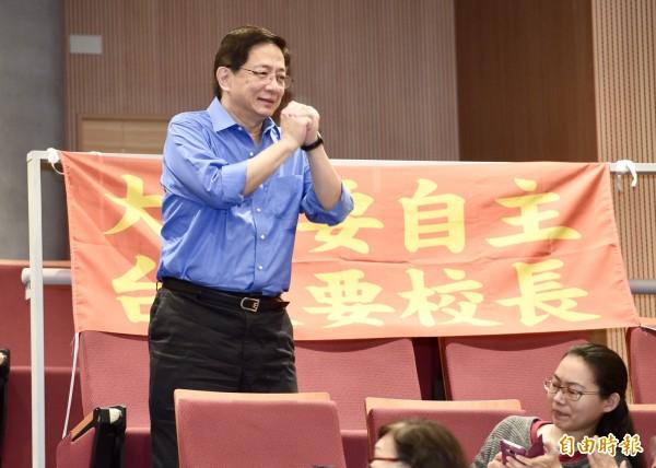 前教育部長葉俊榮25日突襲發聘,讓管中閔(見圖)上任台大校長,但校長遴選過程瑕疵仍未解決。(資料照)
