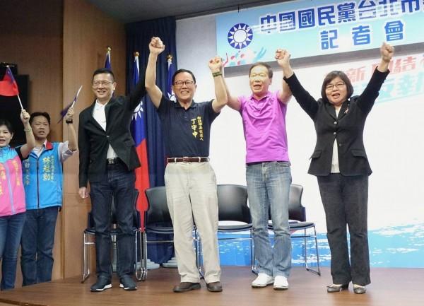 國民黨台北市長黨內初選民調出爐,由前立委丁守中出線。(記者方賓照攝)
