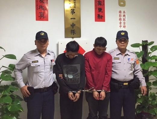 警方依毒品罪嫌將泰籍的郭男、商男移送法辦,並送往移民署台北市專勤隊收容,等待遣返。(記者姜翔翻攝)