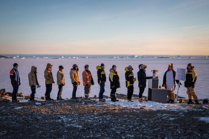 澳洲今年的國會大選有49人登記在南極投票。(法新社)