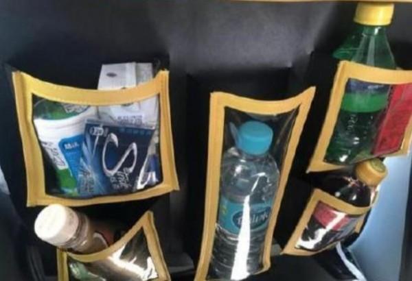 中國有些城市的計程車上開始賣起零食,讓乘客方便也讓司機收入進帳。(圖擷取自微博)