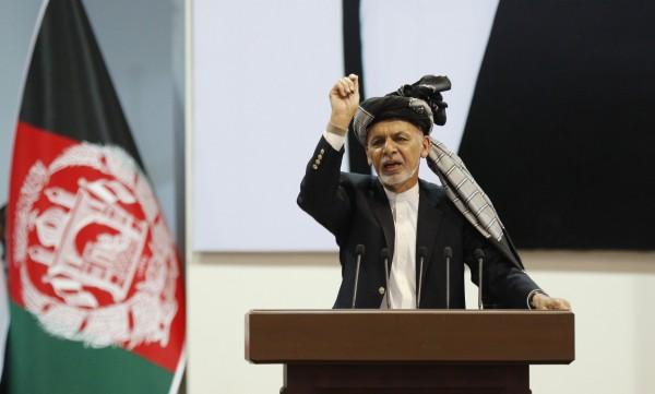 阿富汗總統在支爾格大會的閉幕式上,宣布釋放175名塔利班囚犯。(歐新社)