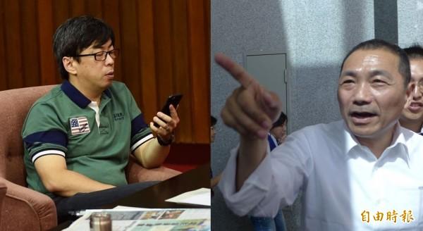段宜康(左)認為自己揭露侯友宜(右)財產,讓他森七七。(資料照,本報合成)