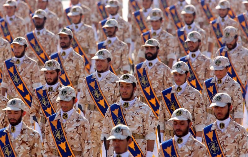 伊朗國家單位「伊斯蘭革命衛隊」遭美國政府認定為恐怖組織。(歐新社)
