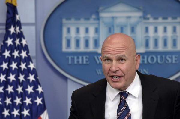 美國國家安全顧問麥馬斯特(H.R. McMaster)表示,可能對北韓發動「預防性戰爭」。(美聯社)