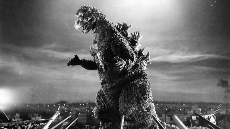 奇怪的海洋生物令台日網友議論紛紛,其中不少人直接聯想日本知名兩棲怪物「哥吉拉」,圖為1954年初代哥吉拉。(資料照,高雄電影節提供)