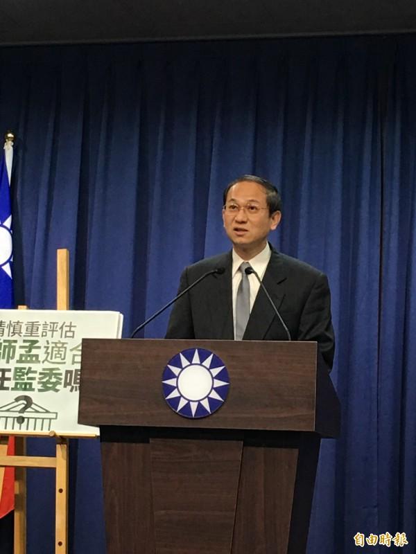 國民黨文傳會副主委唐德明。(資料照,記者林良昇攝)