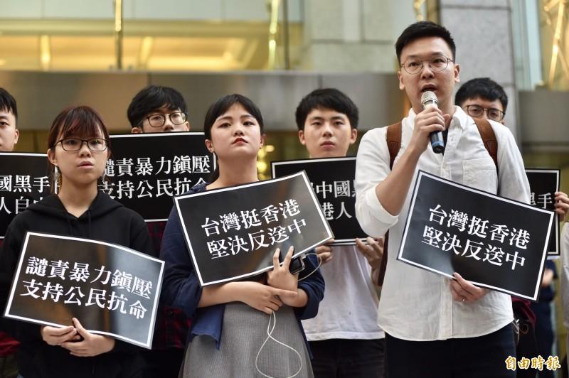 林飛帆表示,台灣和香港都處在中國威權擴張的第一道防線上,如果台灣今天不聲援香港,下一個恐怕就輪到台灣了。(資料照)