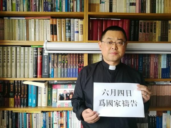 四川教會牧師在今日舉行六四禱告活動,突遭警方帶走。(圖擷自秋雨聖約教會)