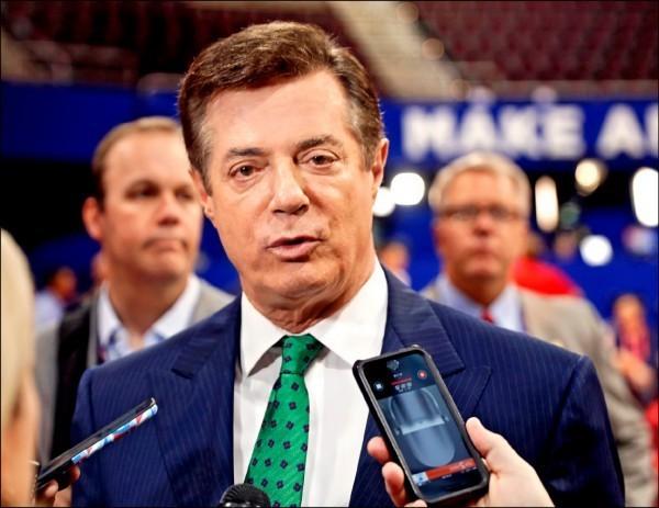 曾任川普全國競選經理的曼納福特(見圖),及其商業夥伴、曾輔佐其選務的蓋茲,為首波被起訴的涉案者。(美聯社)