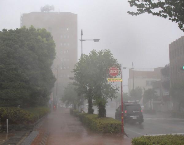 今年生成的颱風多往日本方向移動,今天登陸日本的燕子颱風對關西一帶衝擊甚大,風雨交加導致災情頻傳,交通癱瘓。(法新社)