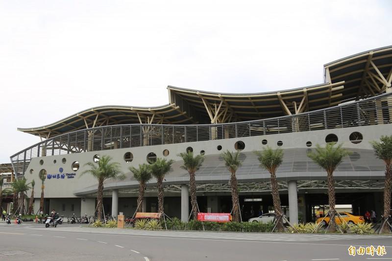 潮州火車站日前發生乘客大小聲遭拒載事件。(記者邱芷柔攝)