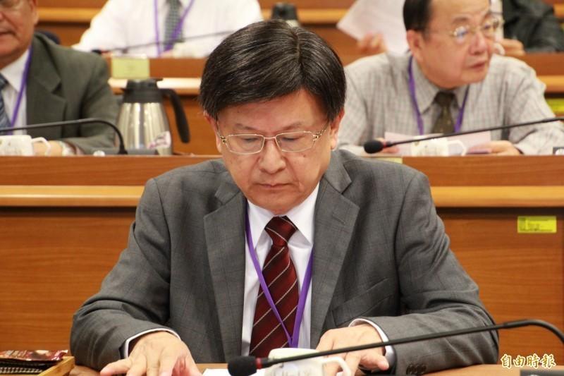 公務員懲戒委員會委員長石木欽(見圖)被指和案件當事人不當接觸並已請辭(資料照)