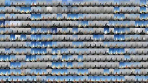 鄒毅拍的2014年北京每日照片組圖。(圖擷自CNN)