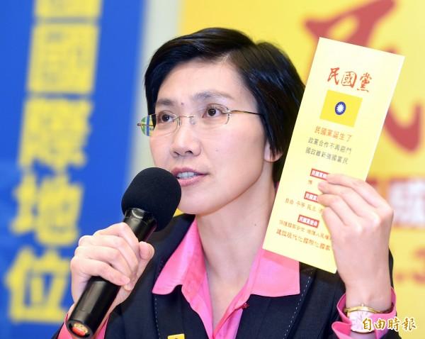 資深媒體人周玉蔻在臉書直指,立委徐欣瑩除走的新政黨民國黨,背後支持者其實是妙天禪師。(資料照,記者方賓照攝)