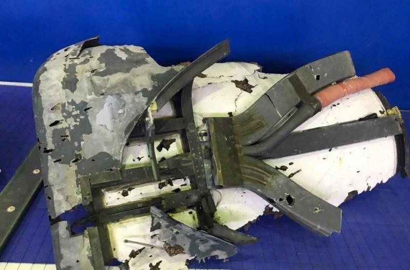 伊朗國營媒體今天(21日)稍早公開照片,指出此為美軍無人機RQ-4A的殘骸。(歐新社)