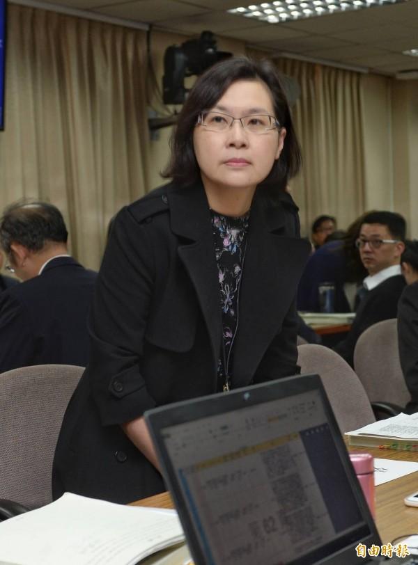 立法院外交國防委員會今天繼續審查外交部預算,台灣日本關係協會秘書長張淑玲列席。(記者林正堃攝)