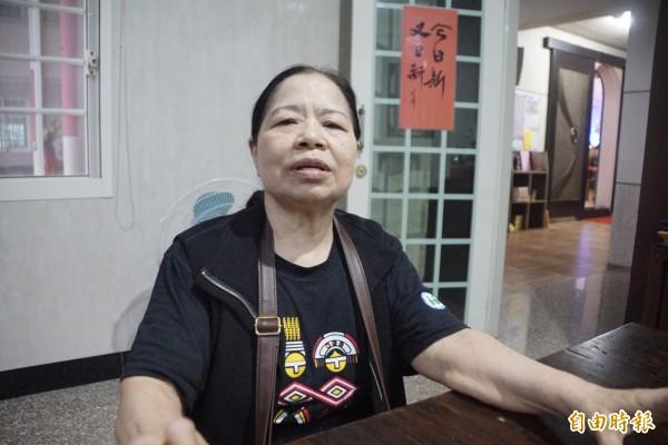 統促黨發言人璩美鳳,透過媒體出示照片表示已經認陳樹菊(見圖)為乾媽。不過,陳樹菊卻要求媒體記者澄清,「我沒有乾女兒」。(資料照)