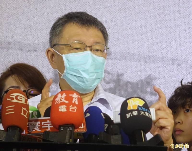 台北市長柯文哲回應建管處公務員涉弊案件。(記者王藝菘攝)