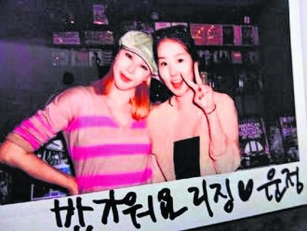 利菁和李敏鎬親姐姐(右)合照。(魔耳國際提供)